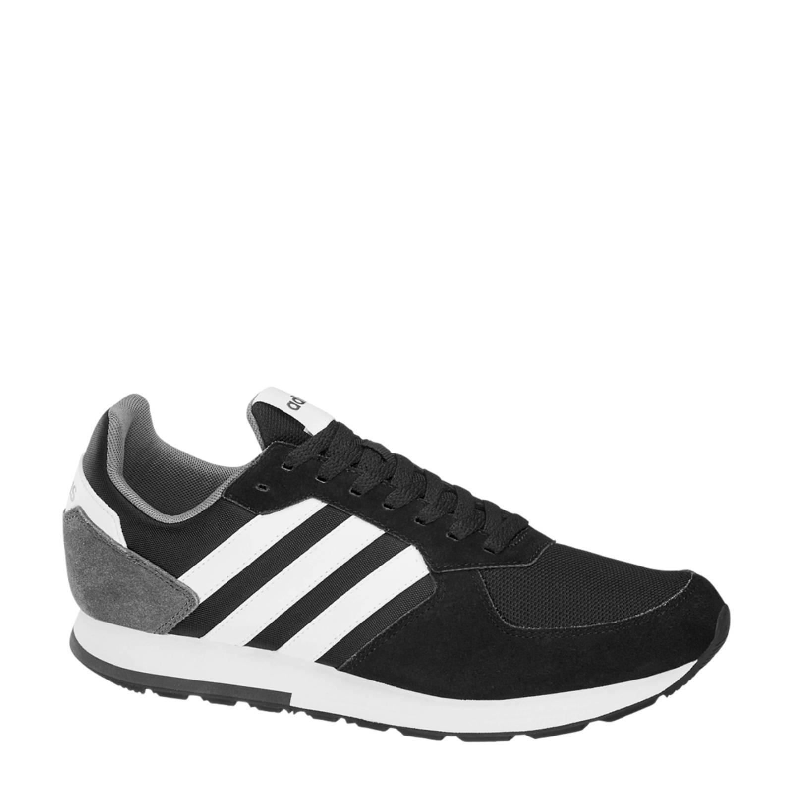 adidas 8K leren sneakers zwart | wehkamp