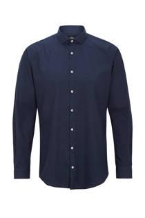s.Oliver BLACK LABEL overhemd met print marine (heren)