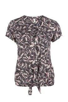 blouse met print roze