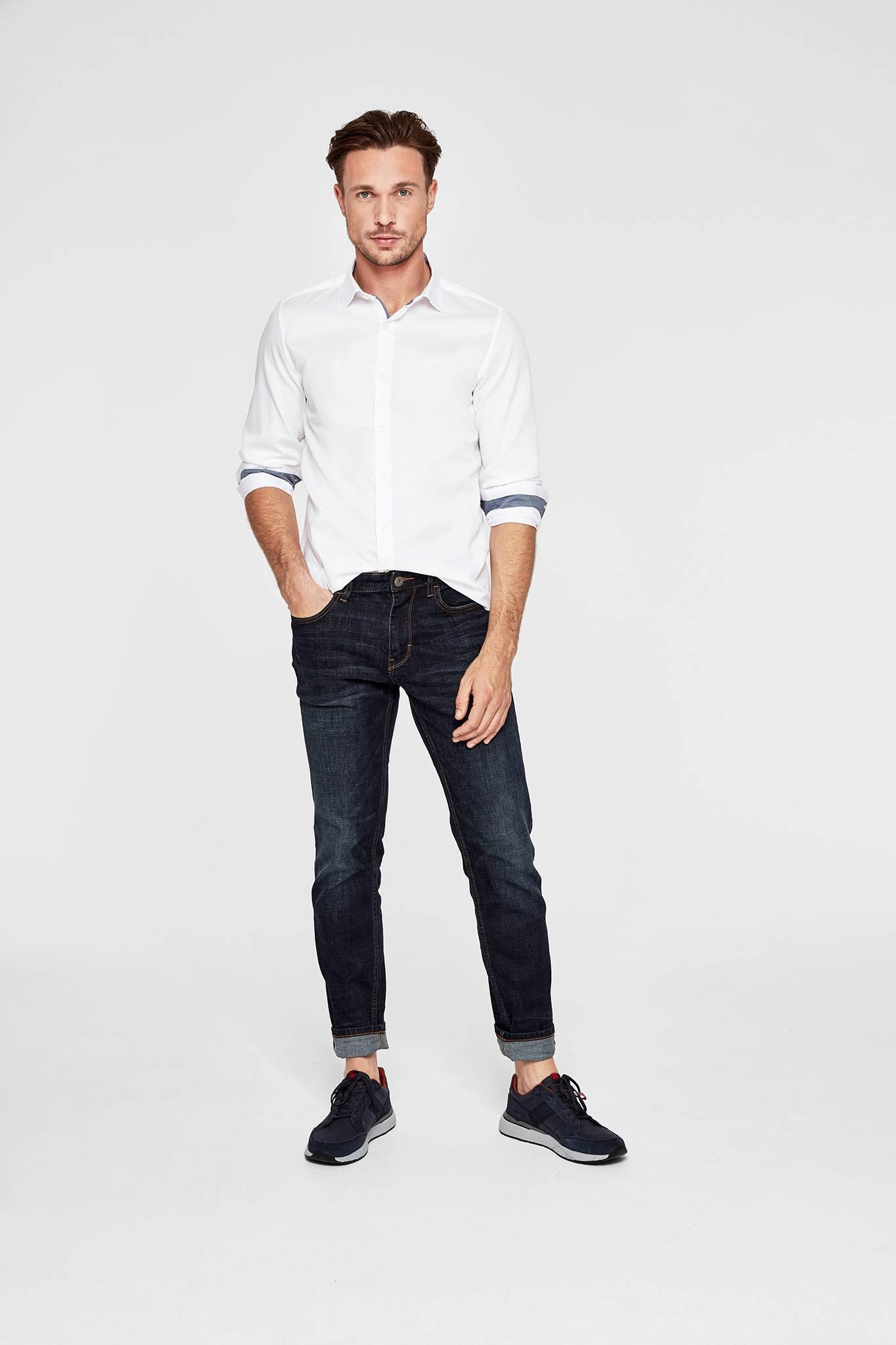 s.Oliver slim fit overhemd wit | wehkamp