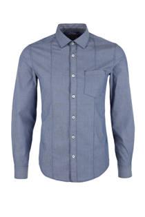 s.Oliver slim fit overhemd blauw (heren)