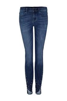 7/8 skinny jeans met studs dark denim