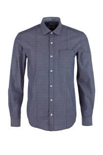 s.Oliver regular fit overhemd donkerblauw (heren)