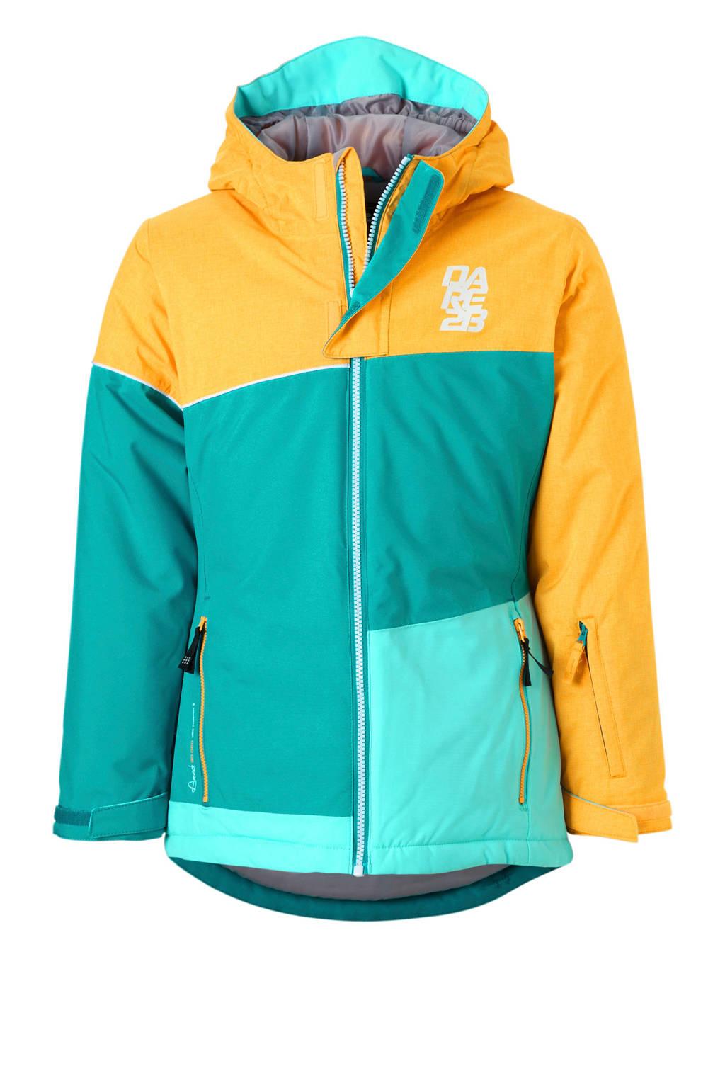 Dare2B ski-jack, Oranje/turqoise/lichtblauw