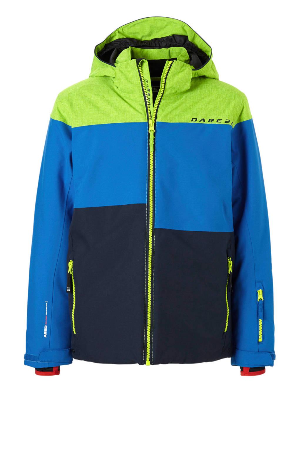 Dare2B ski-jack, Blauw/donkerblauw/groen