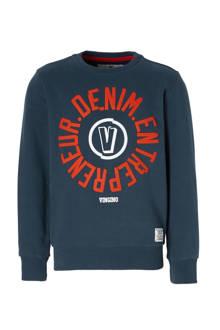 sweater Nojien met tekst blauw