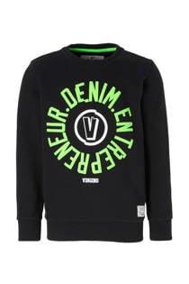 Vingino sweater Nojien met tekst zwart (jongens)