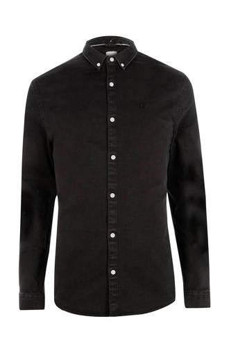 Big & Tall denim overhemd