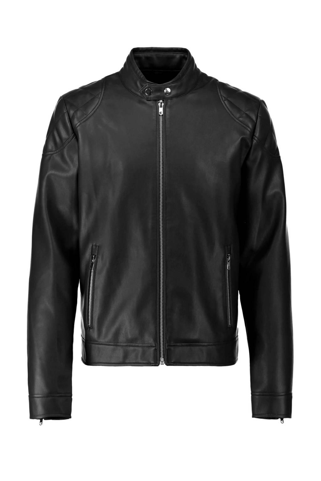 CoolCat biker jas zwart, Zwart