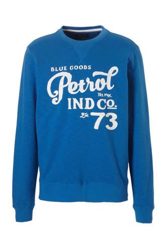 sweater met print blauw