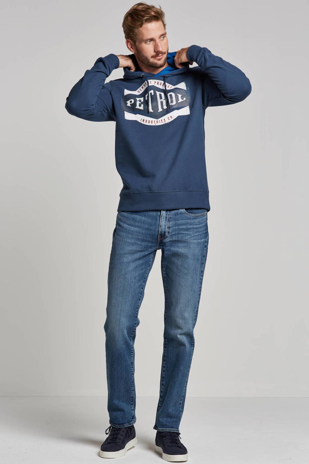 Petrol Industries hoodie met print blauw, Blauw