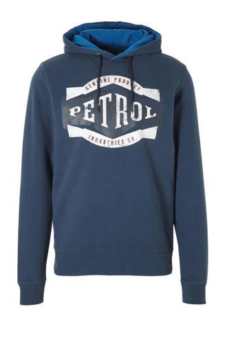 hoodie met print blauw