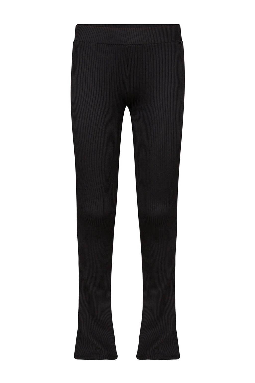 WE Fashion flared broek zwart, Black Uni
