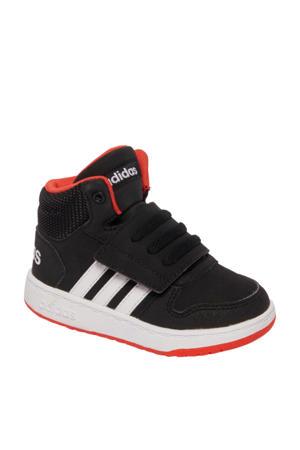 Hoops Mid 2.0 leren sneakers zwart