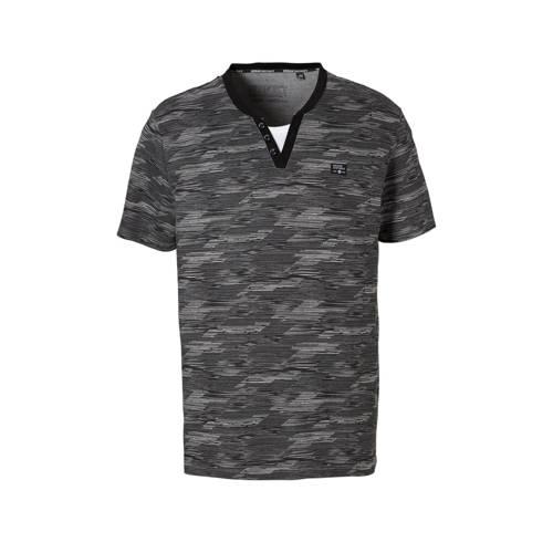 gestreepte T-shirt zwart
