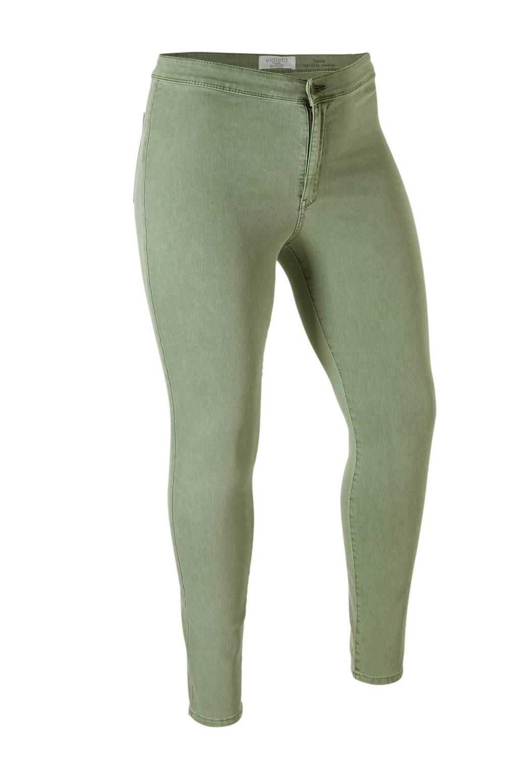Violeta by Mango high waist jegging groen, Groen