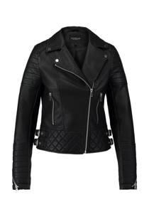 CoolCat jas van imitatieleer zwart (dames)
