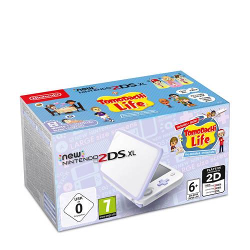 New Nintendo 2DS XL Console + Tomodachi Life (White-Lavender)