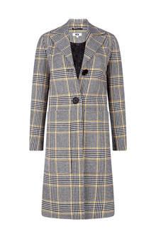 regular fit mantel met ruitenprint grijs