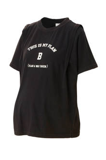zwangerschaps T-shirt Azur