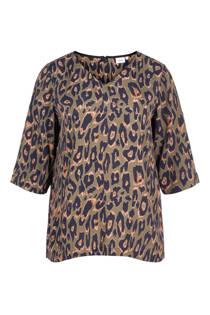 Zizzi top met luipaardprint (dames)