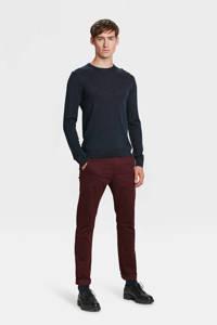 WE Fashion Blue Ridge skinny chino Bobby donkerrood, Shiraz
