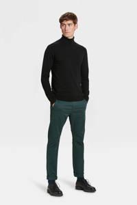 WE Fashion Blue Ridge skinny chino Bobby donkergroen, Donkergroen