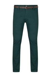 WE Fashion skinny chino Bobby donkergroen (heren)