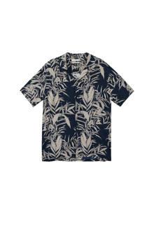 overhemd met bladerprint