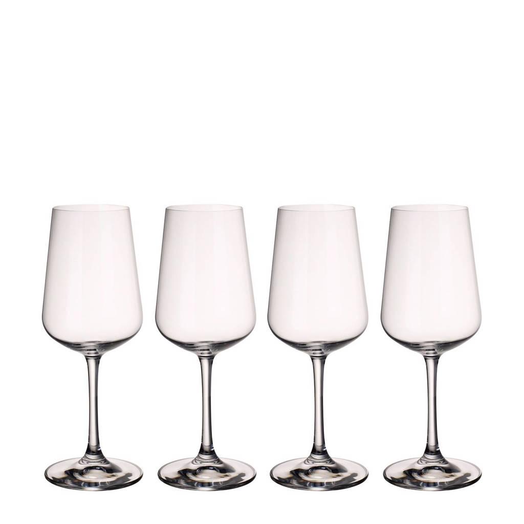 Villeroy & Boch Ovid witte wijnglas (set van 4), Transparant