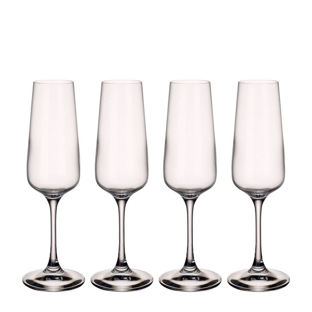 Villeroy & Boch Ovid champagneglas (set van 4), Transparant
