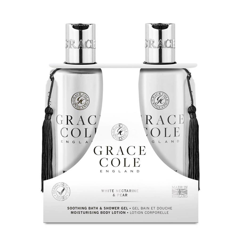 Grace Cole Signature White Nectarine & Pear 300ml geschenkset