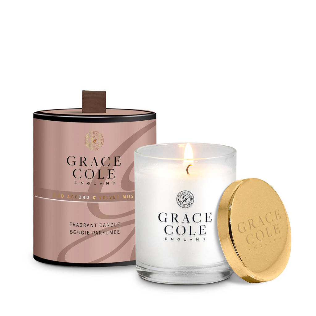 Grace Cole Signature Oud Accord and Velvet Musk 200g geurkaas