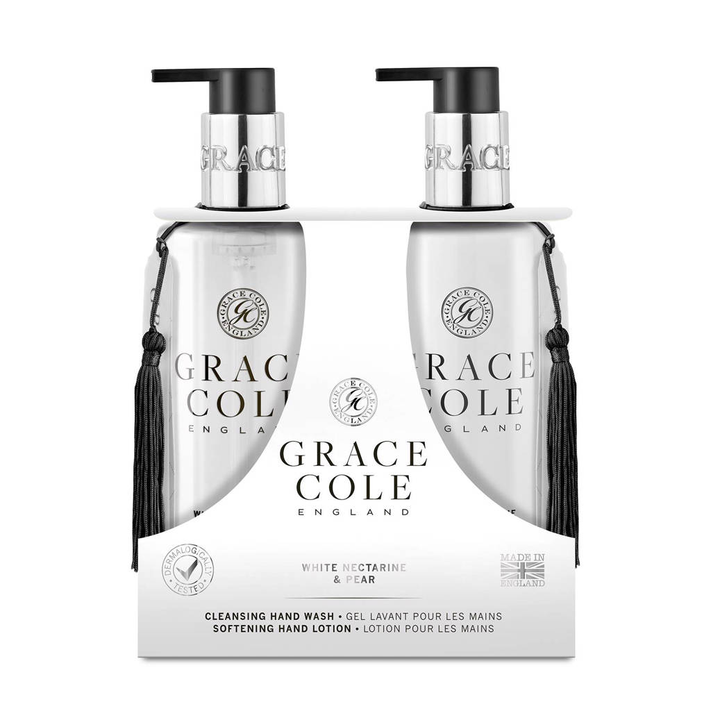 Grace Cole Signature White Nectarine & Pear 300ml Hand Care Duo