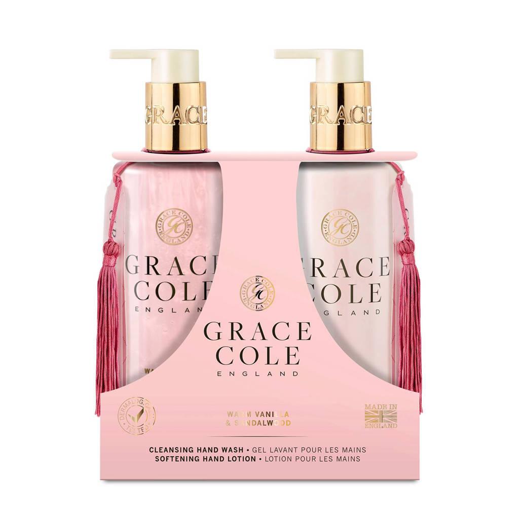 Grace Cole Signature Warm Vanilla & Sandalwood 300ml Hand Care Duo