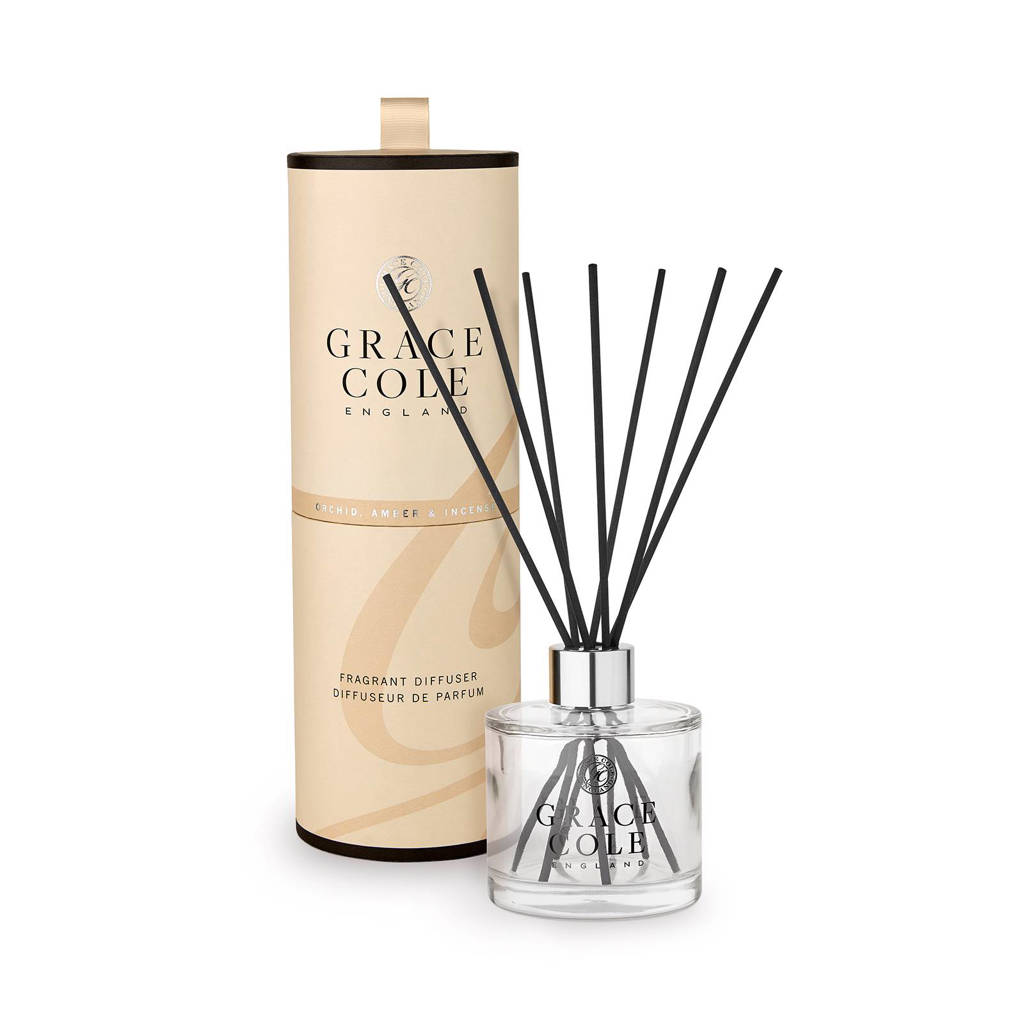 Grace Cole Signature Orchid Amber and Incense 200ml geurstokjes