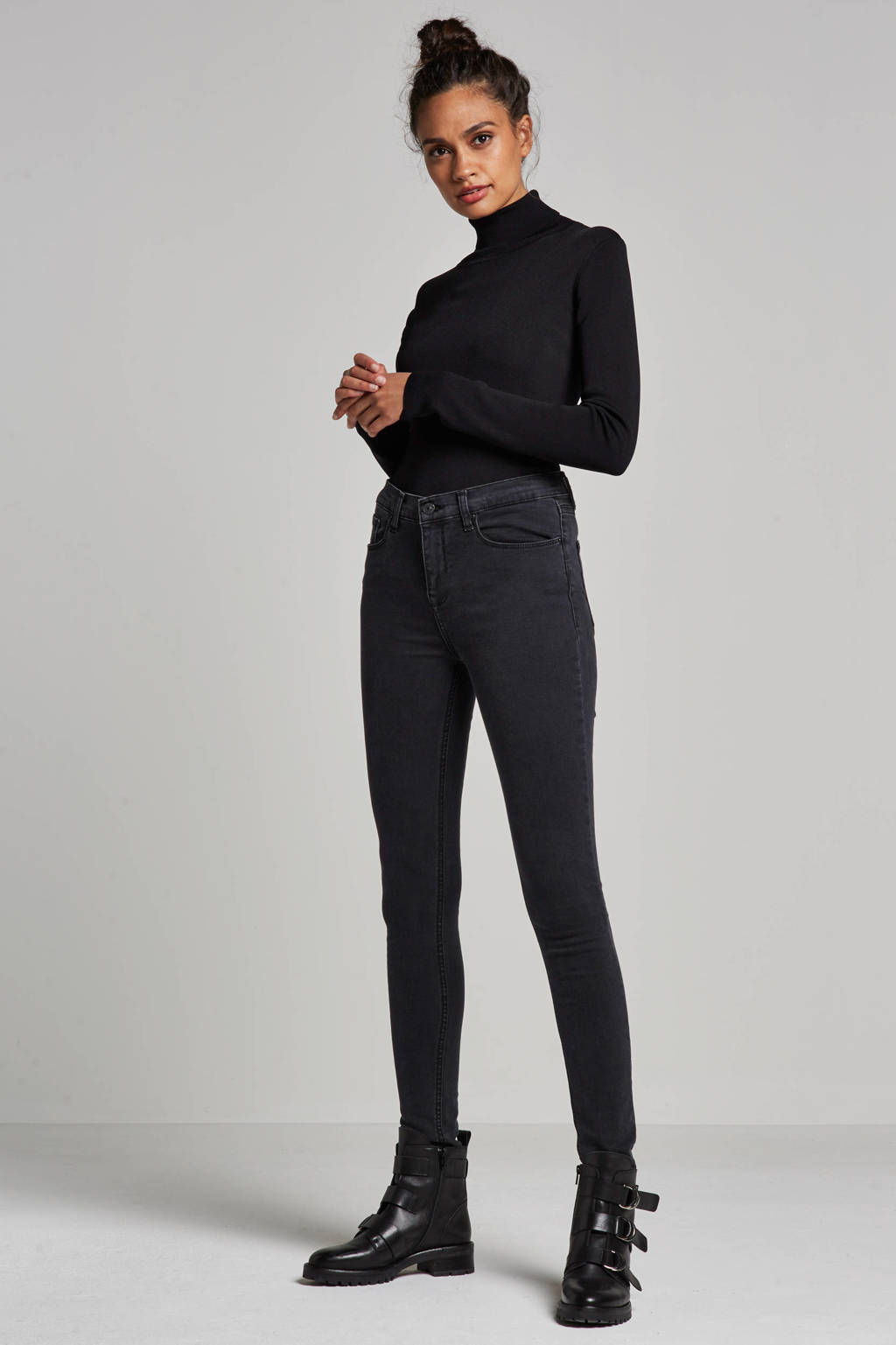 LTB Tanya high waist skinny fit jeans, LTB zwart