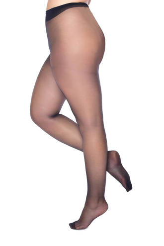 luxury sheer panty glans 15 denier +size
