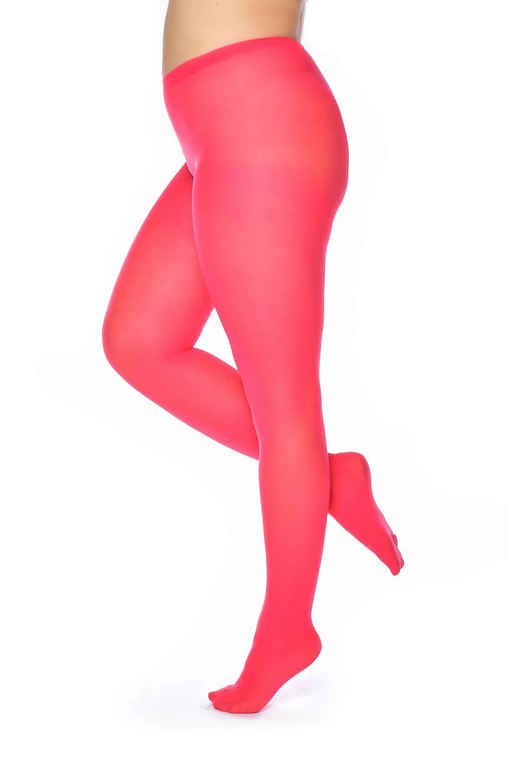 Pamela Mann super curvy super stretch panty 50 denier +size, Koraalrood