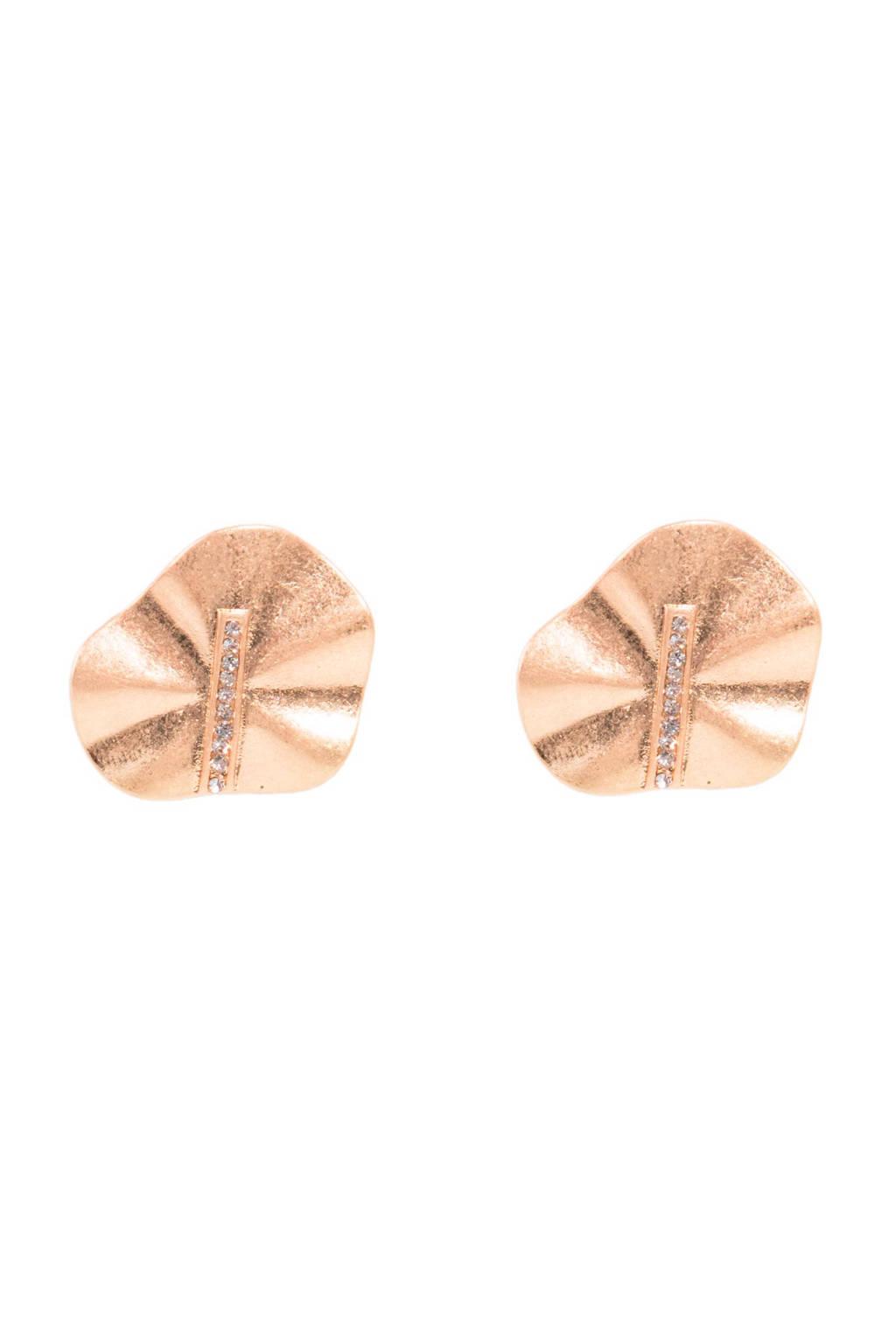 Parfois oorstekers met sierstenen goudkleurig, Goud