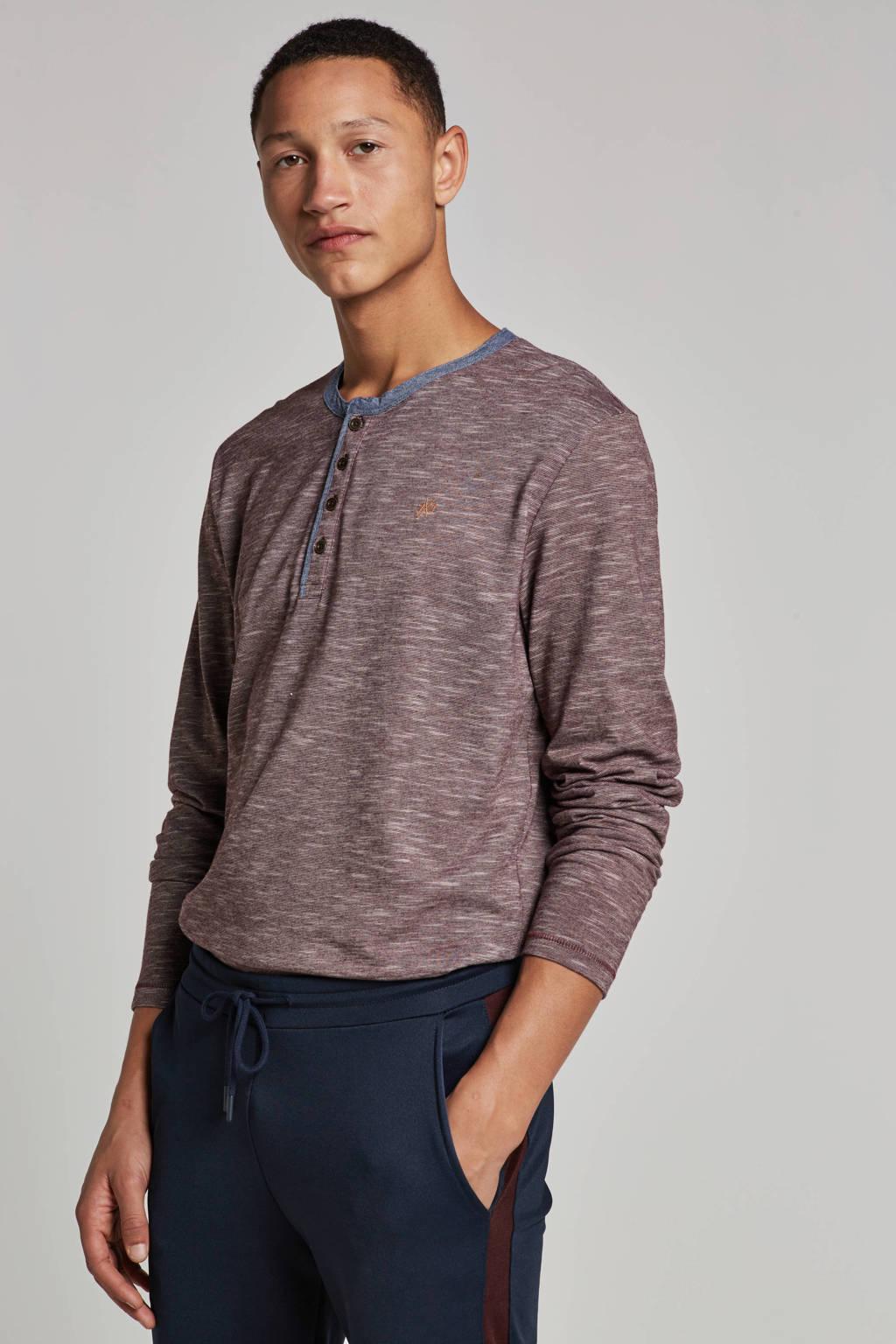 Jack & Jones Originals t-shirt longsleeves, Rood/blauw