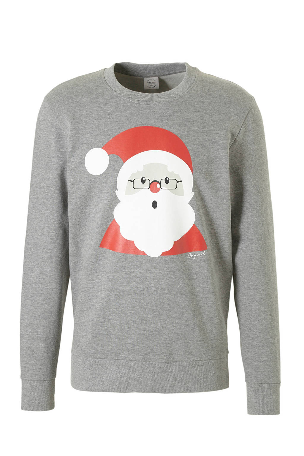 Jack & Jones Originals kersttrui grijs, Grijs