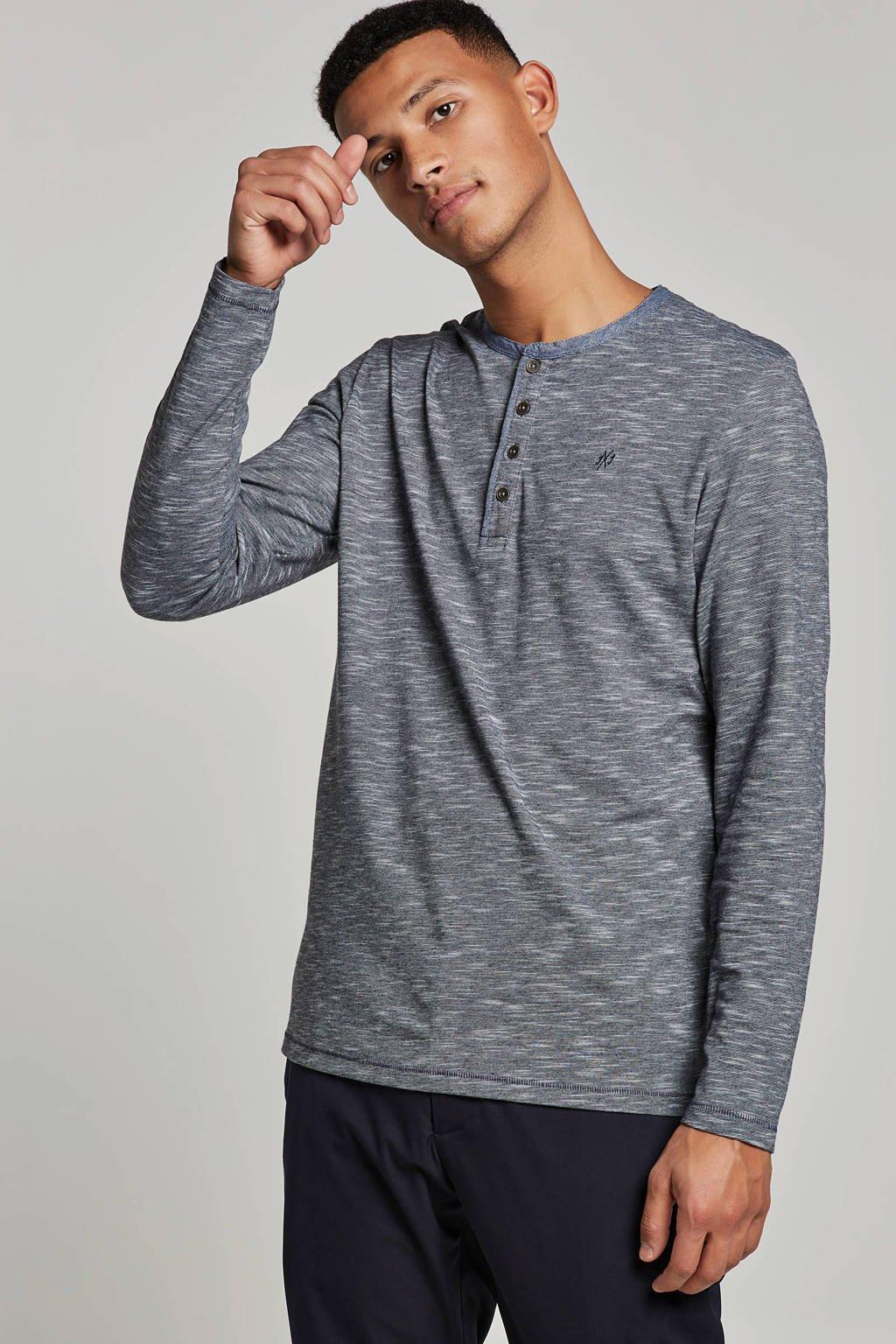 Jack & Jones Originals t-shirt longsleeves, Grijs/blauw