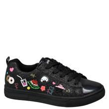 Graceland metallic sneakers met patches zwart kids