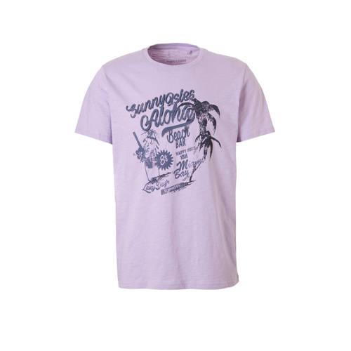 T-shirt met print lila