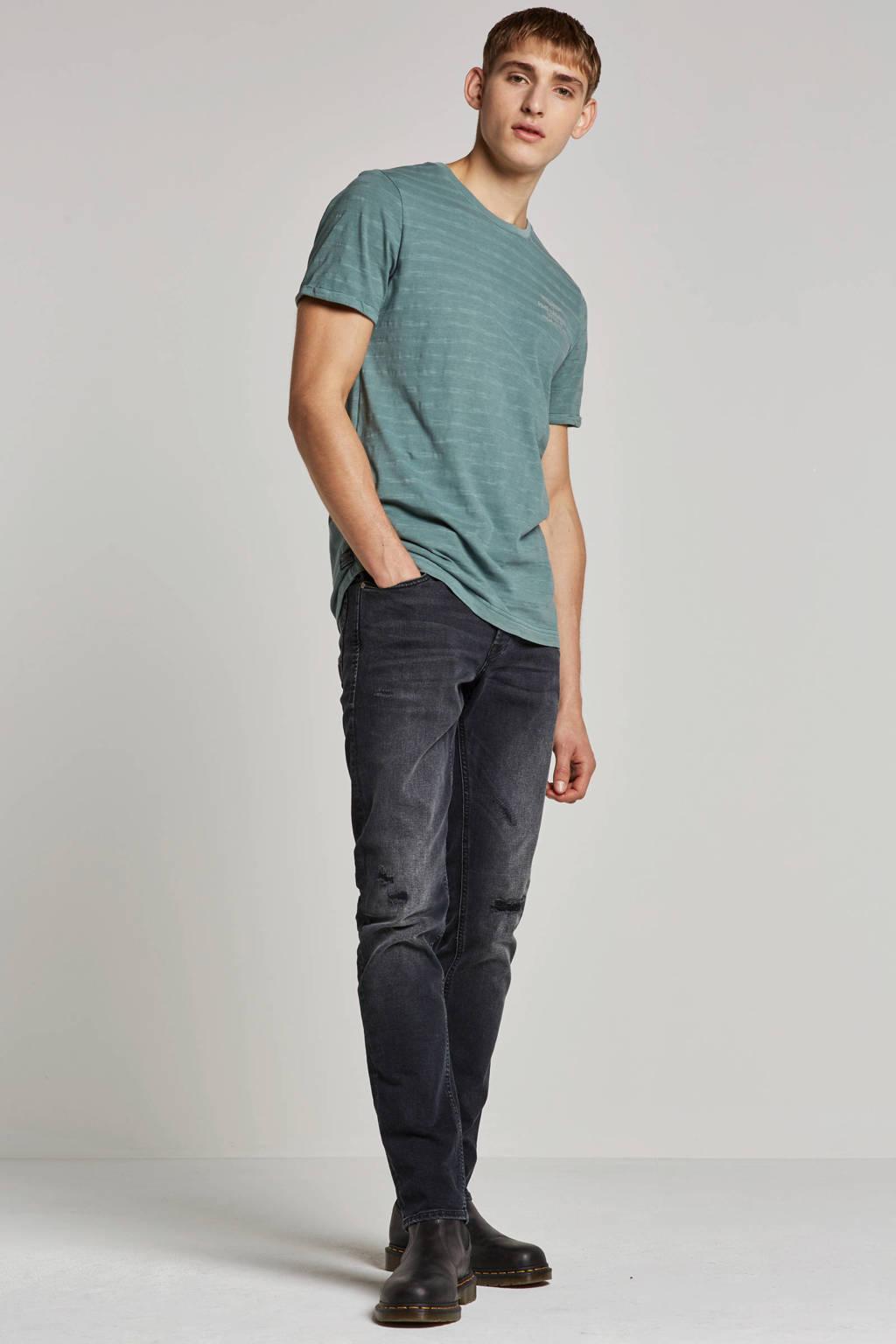 J&J Intelligence slim fit jeans, Zwart