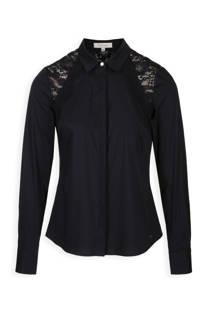 Morgan blouse met kanten details marine (dames)