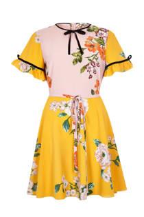 River Island jurk met bloemenprint en strikdetails