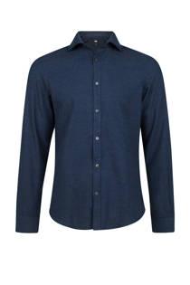 WE Fashion slim fit overhemd blauw (heren)