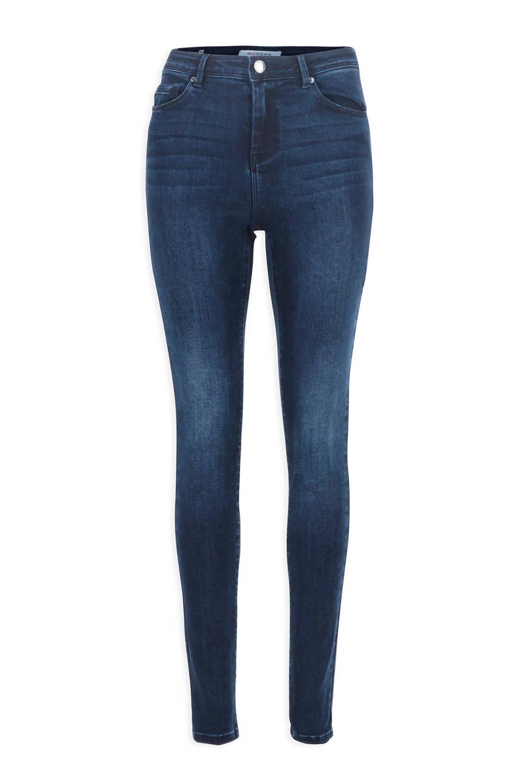 Morgan cropped high waist skinny jeans, Dark denim